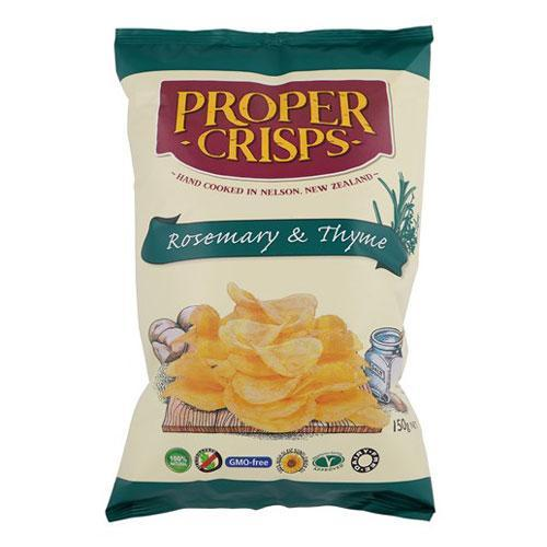 PROPER ROSEMARY AND THYME CRISPS 150G