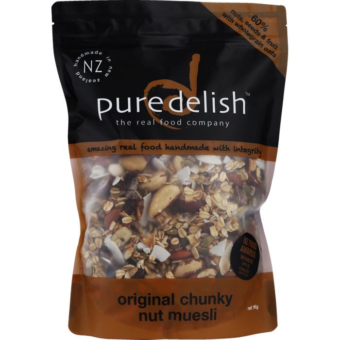 PURE DELISH ORIGINAL CHUNKY NUT MUESLI 1KG