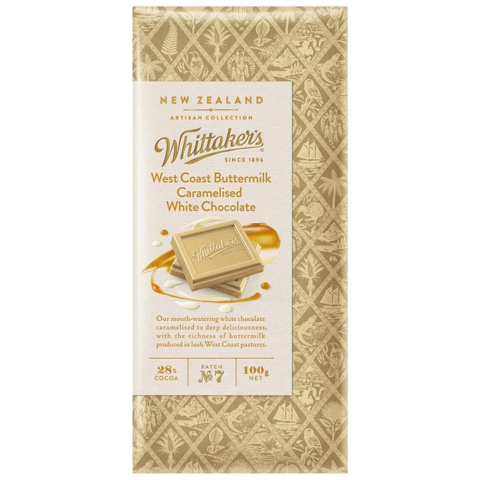 WHITTAKERS WESTCOAST BUTTERMILK BLOCK 100G