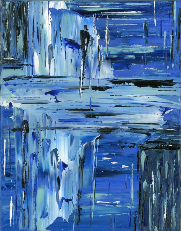Feeling Blue - Original Abstract Painting - AbstractExpressions63