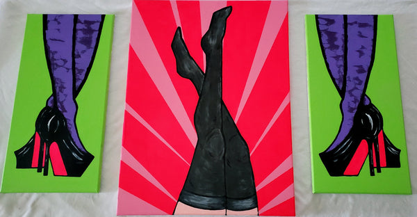 Legs (3 pcs) - Original Abstract Paintings - Abstract Expressions Art