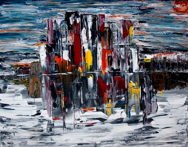 City Scape - Original Abstract Painting - Abstract Expressions Art