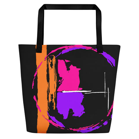 Out of this World (2) Beach Bag - Abstract Expressions Art