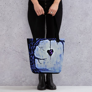 Out on a Limb (Blue) Tote bag - AbstractExpressions63