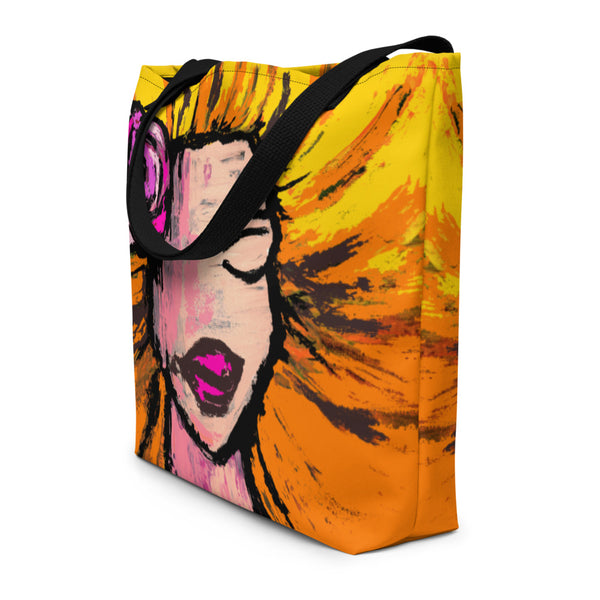 Soaking Up the Sun Beach Bag - Abstract Expressions Art