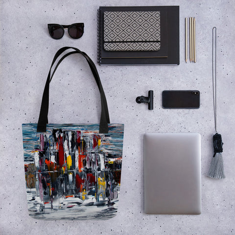 City Scape Tote bag - Abstract Expressions Art
