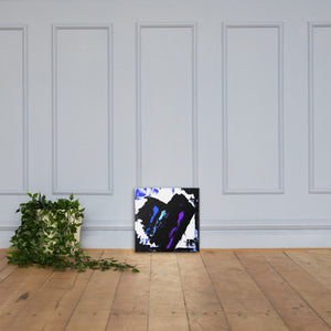 Blue and Purple Heart Canvas Print - AbstractExpressions63