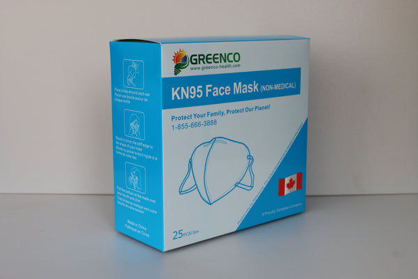 25PCS BREATHABLE PROTECTIVE Non-Medical KN95 RESPIRATOR (N95 EQUIVALENT)