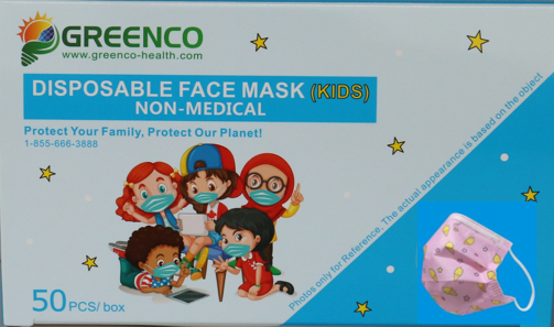 50PCS COLORFUL DISPOSABLE ANTI-DUST MASK (Kids)