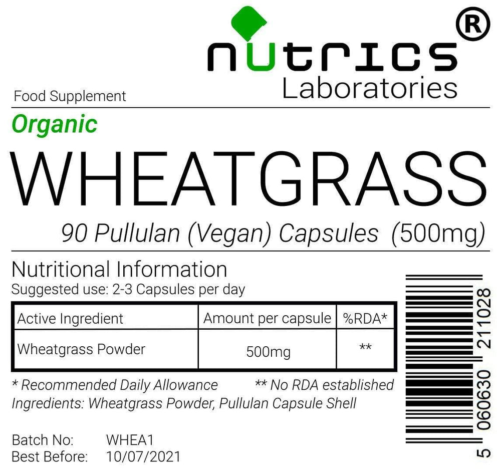 Load image into Gallery viewer, Organic Wheatgrass 90 Capsules - Almamea