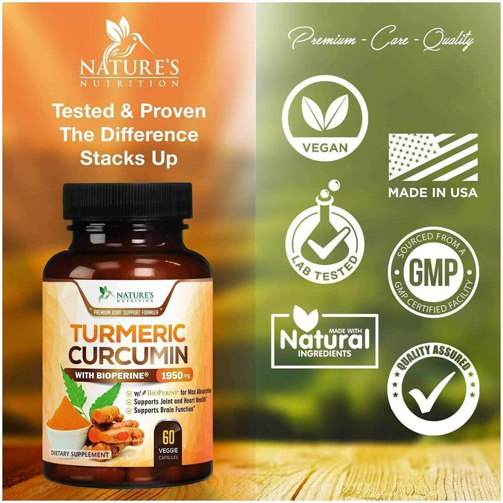 Turmeric Curcumin with Bioperine Black Pepper Extract - Almamea