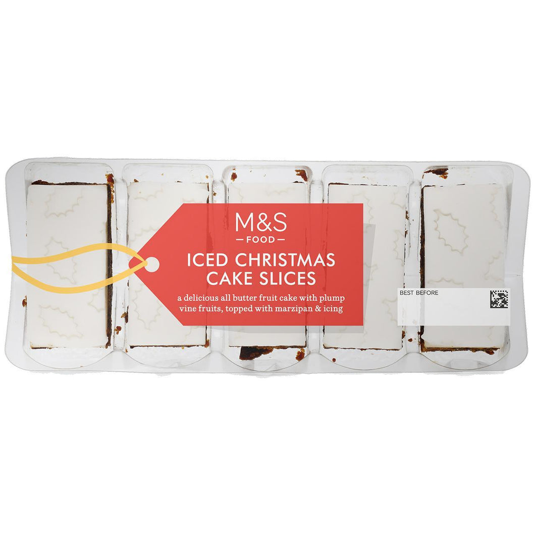 Iced Christmas Cake Slices 240g