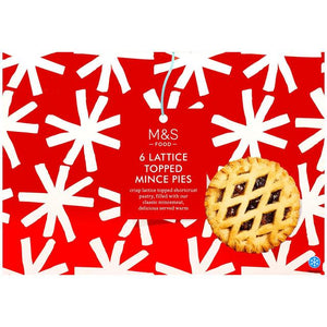 6 Lattice Topped Mince Pies 330g