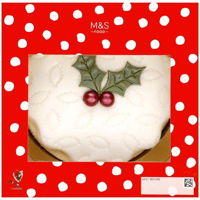 Top Iced Holly Cake 835g