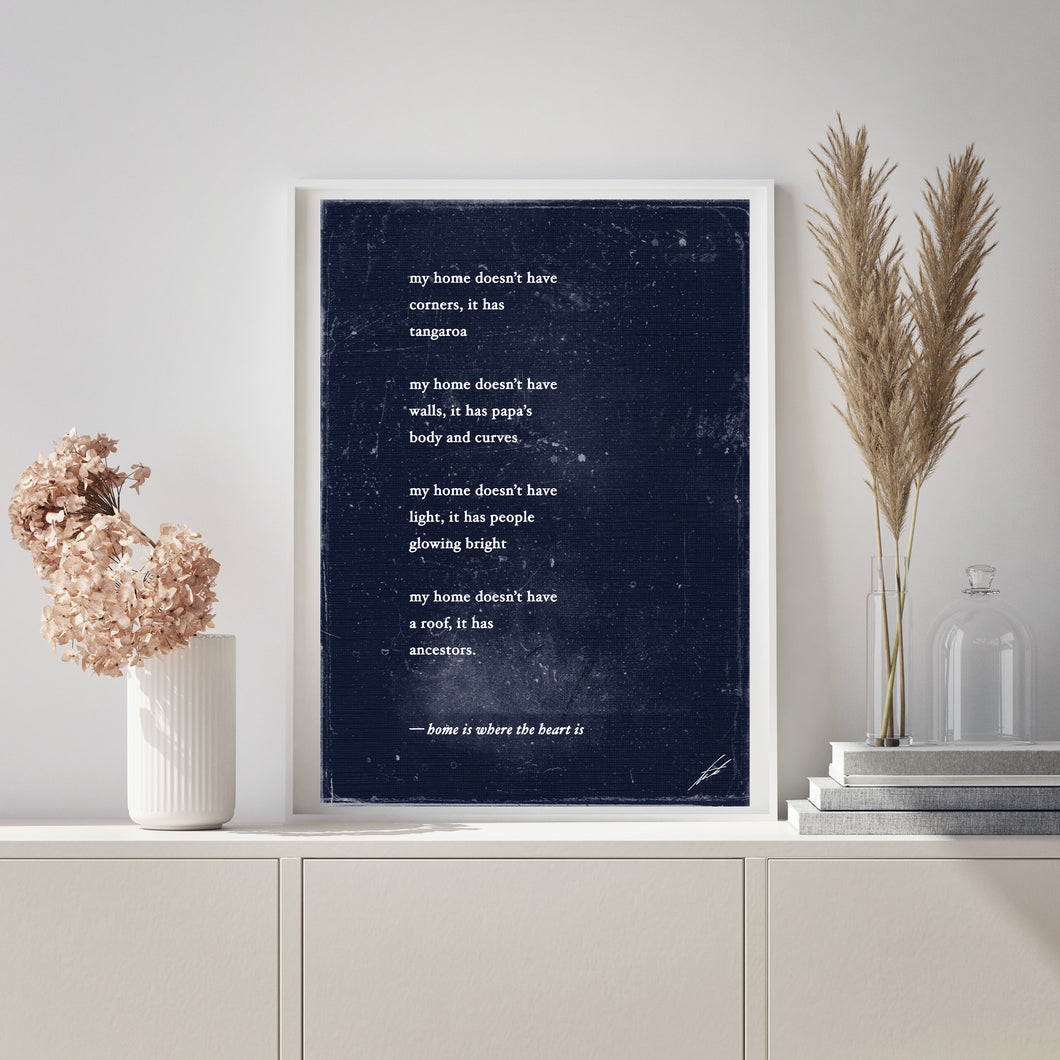 Home is where the heart is - Poem Print