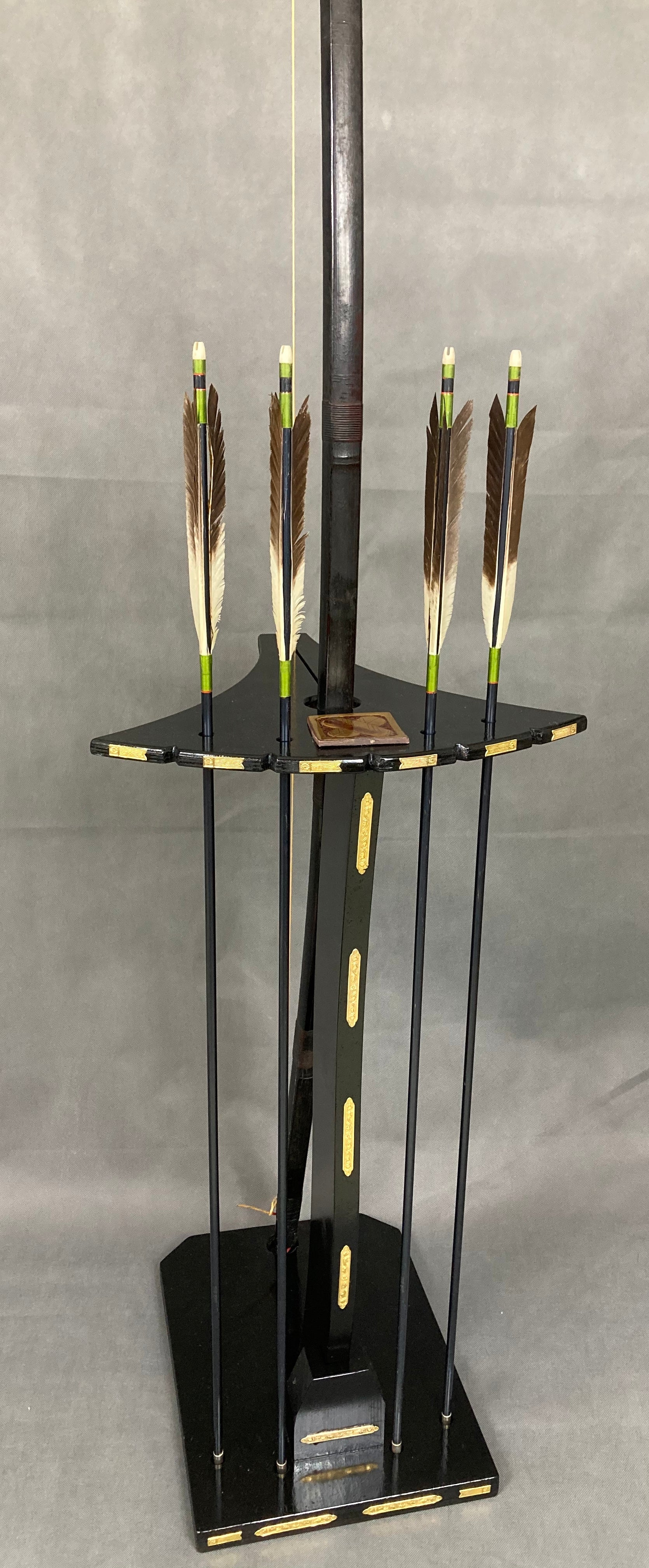 Bow ( Yumi.) and arrow display - Yamazakura