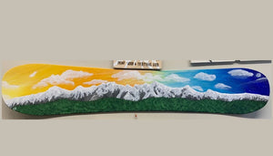 Majestic Mount Currie - painted snowboard