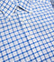Bryceland's Linen Button Down Paid Shirt Blue & Orange