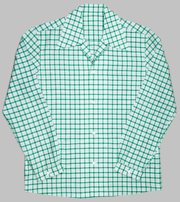 Bryceland's Cabana Shirt Green Checks