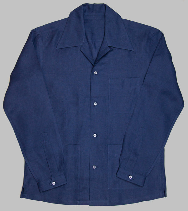 Bryceland's Cabana Shirt Navy Light