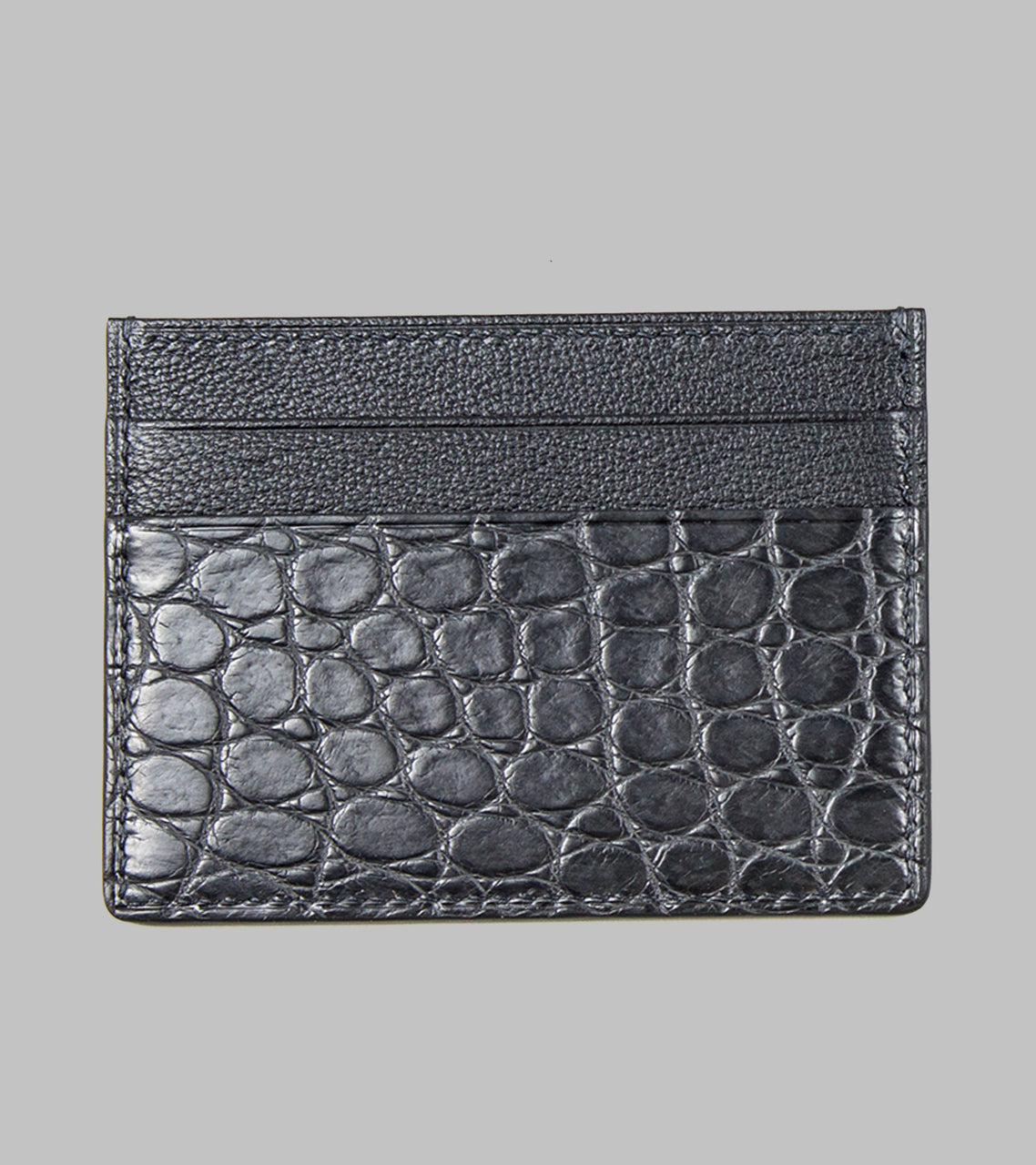 Bryceland's Porosus Card Case Dark Gray