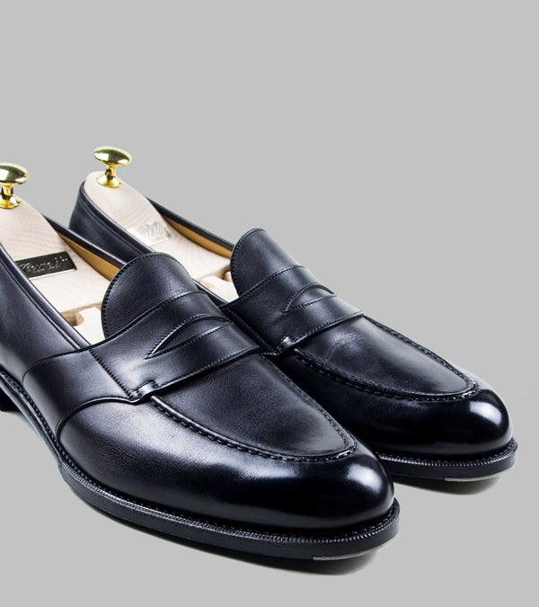 Corno Blu Penny Loafers Black
