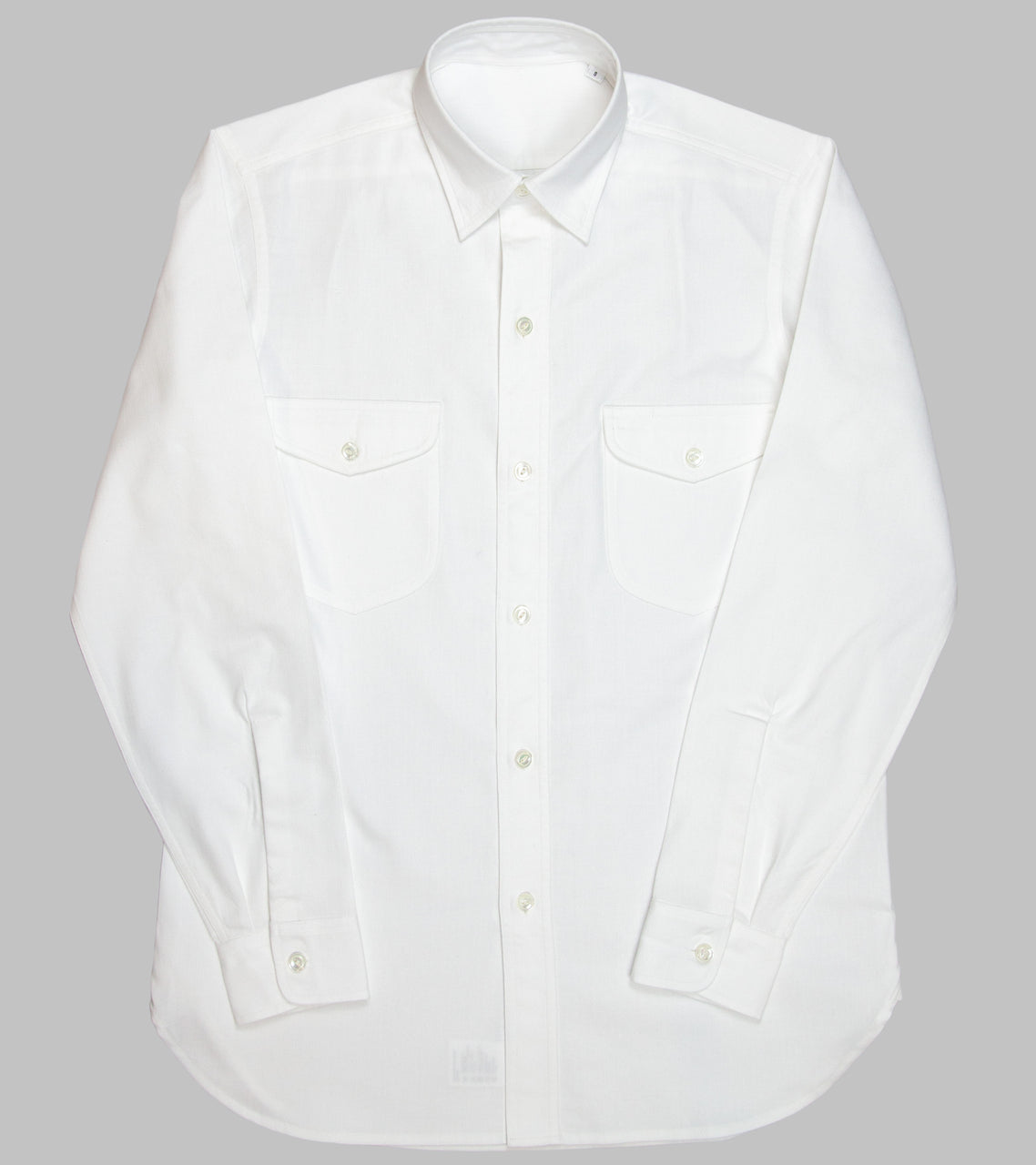 Bryceland's Made-to-Order Teardrop Work Shirt HBT White