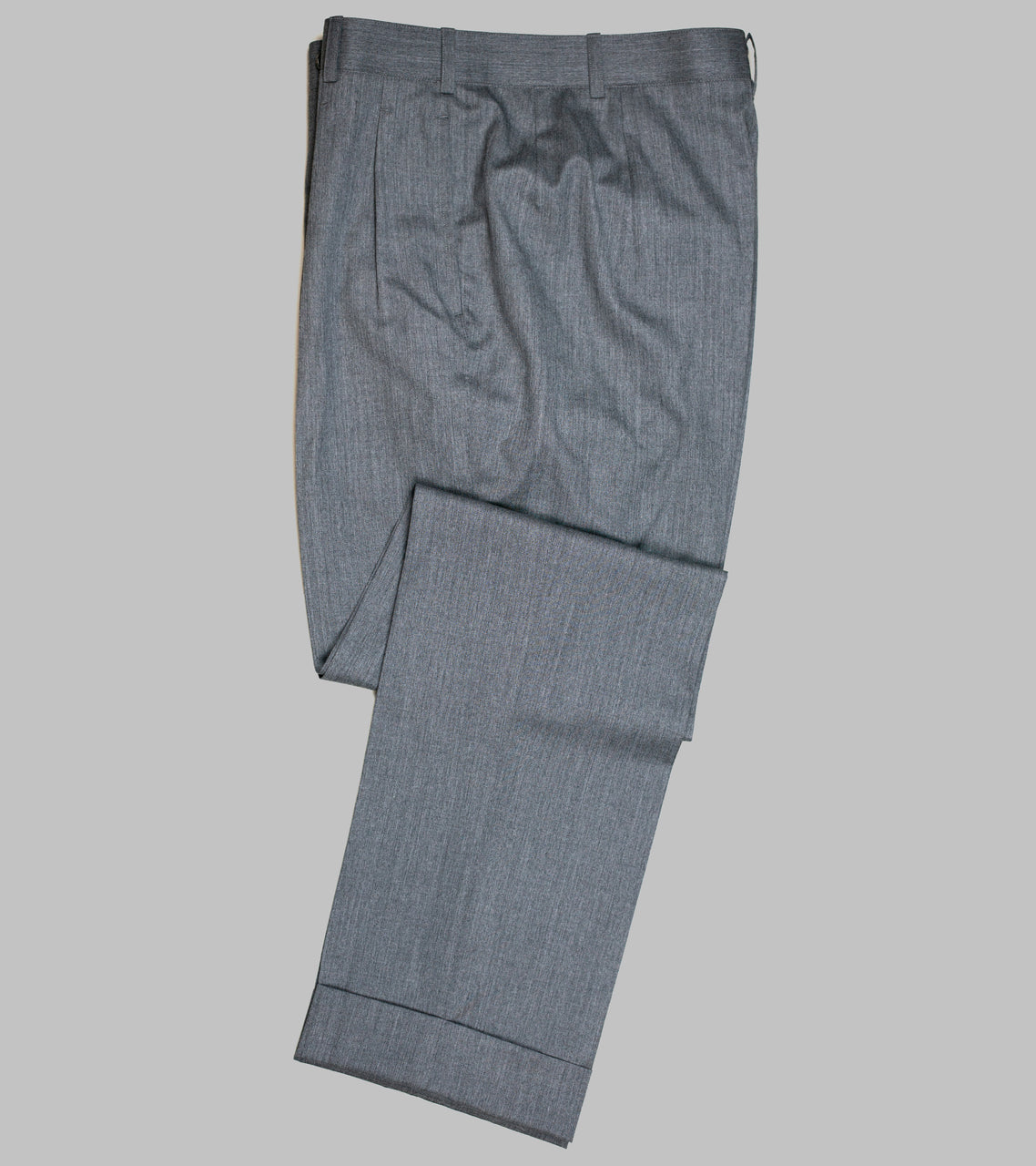 Bryceland's Wool Gabardine Winston Trousers Made-to-Order Charcoal