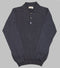Bryceland's Cotton Long Sleeve Polo Charcoal