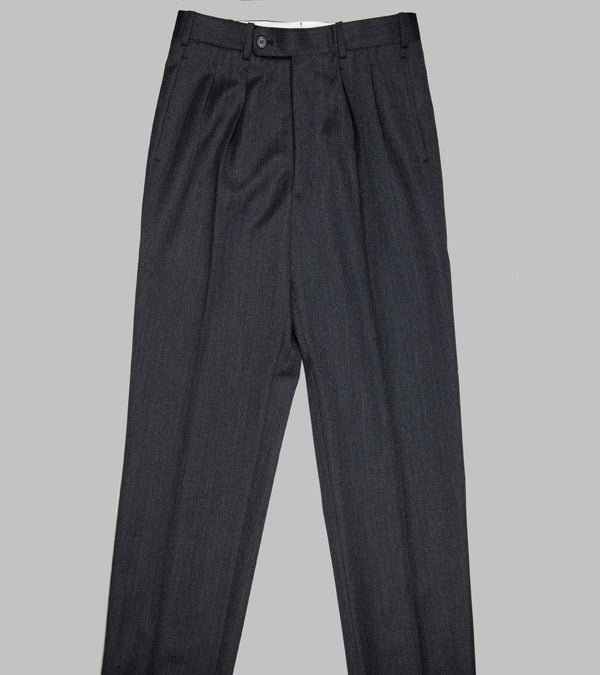 Bryceland's Covert Winston Trousers Made-to-Order Charcoal