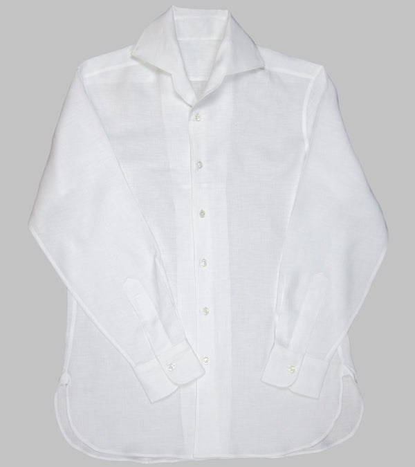 Bryceland's Cuban Collar Shirt White