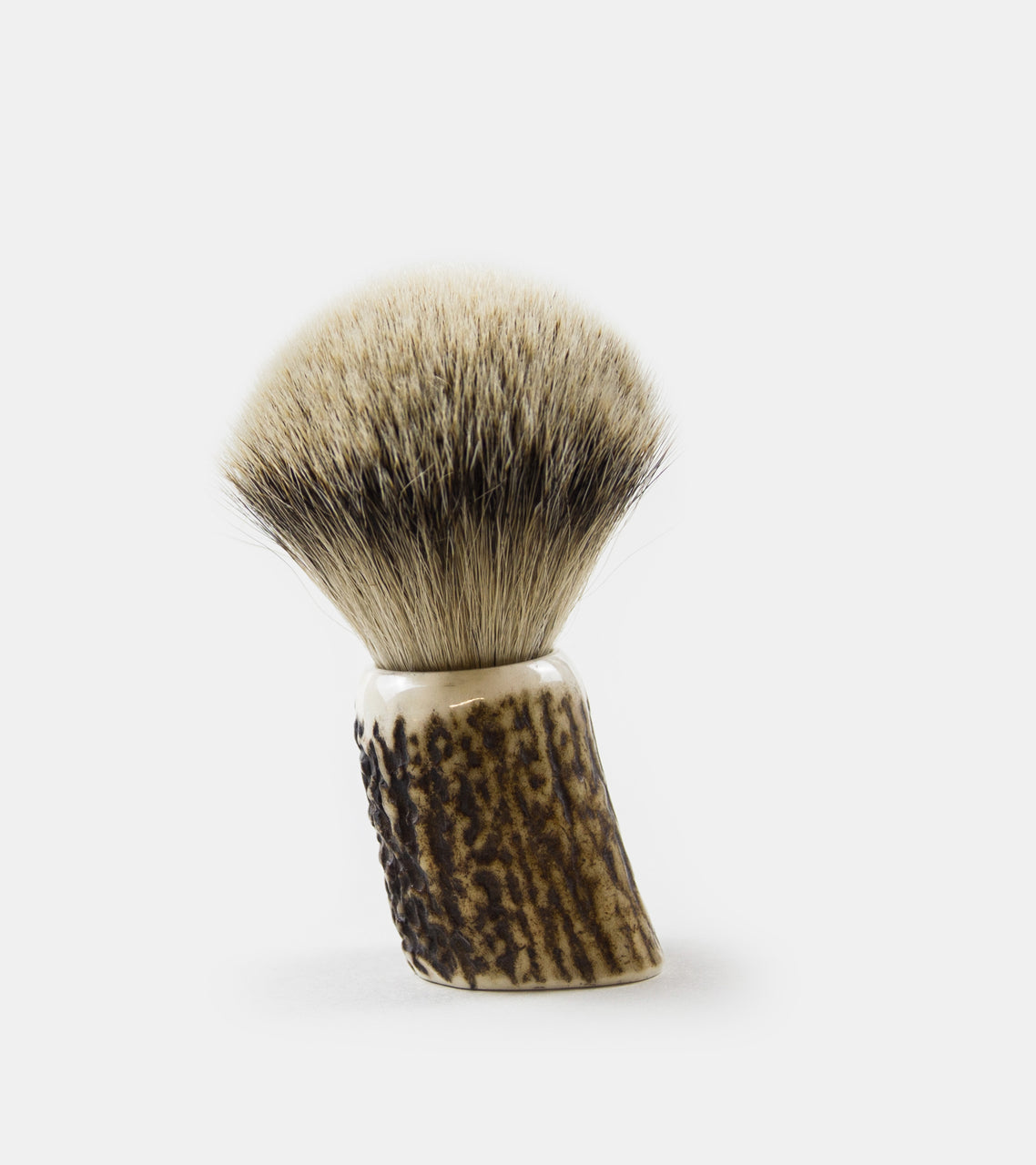 Silver Tip Badger Shave Brush with Deer Horn Handle