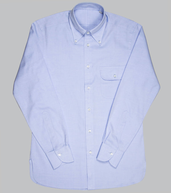 Bryceland's Made-to-Oder Perfect OCBD Shirt Light Blue