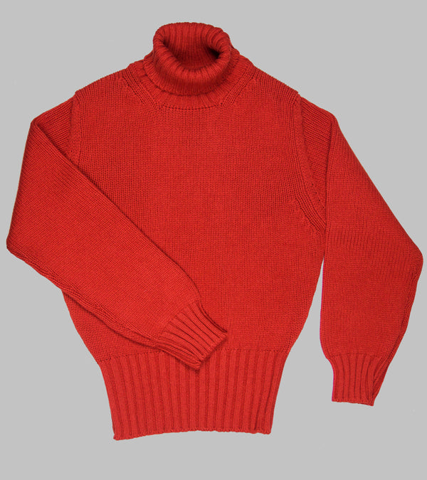 Bryceland's RAF Rollneck Pullover Red