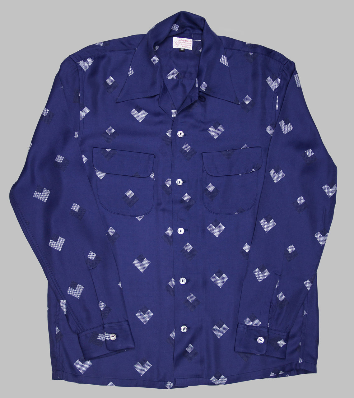 Bryceland's Rayon Shirt Diamond Blue