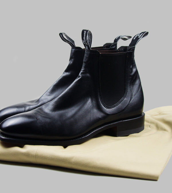 R.M.Williams Craftsman Chelsea Boots Kangaroo Black