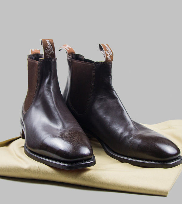 R.M.Williams Craftsman Chelsea Boots Kangaroo Chestnut