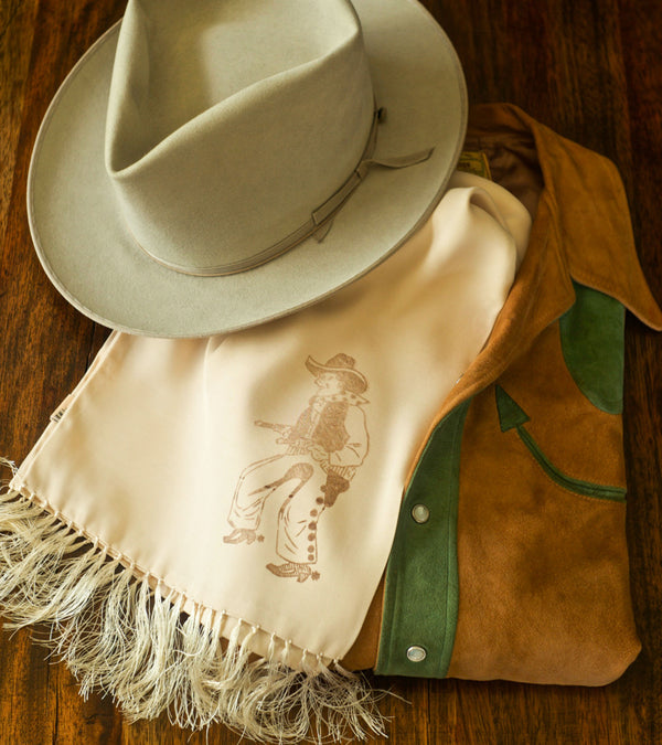 Bryceland's Rayon Scarf with 1950's Cowboy Decal