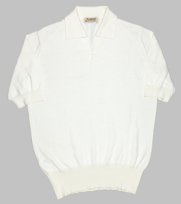 Bryceland's Cotton Short Sleeve Polo Cream