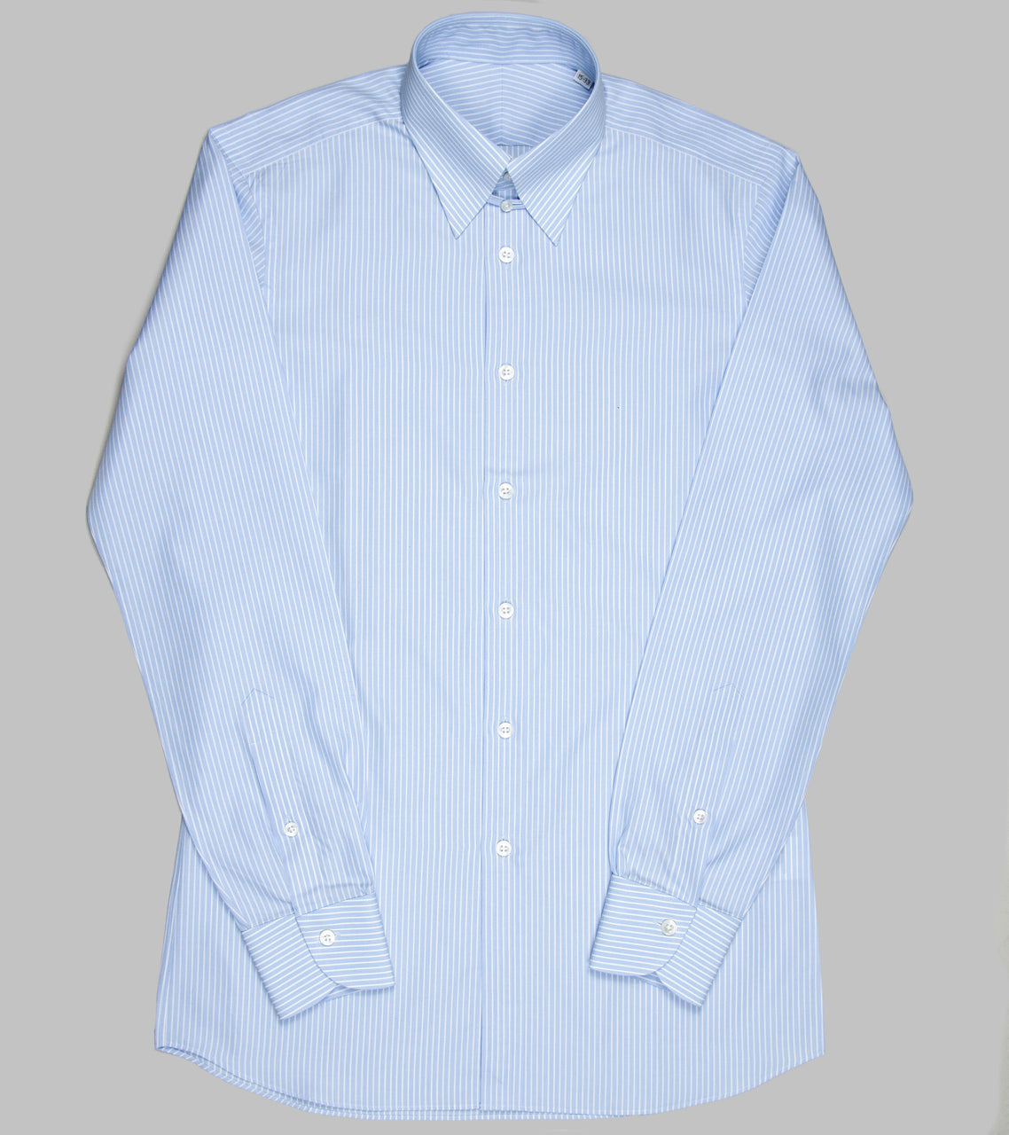 Bryceland's Tab Collar Striped Shirt Blue