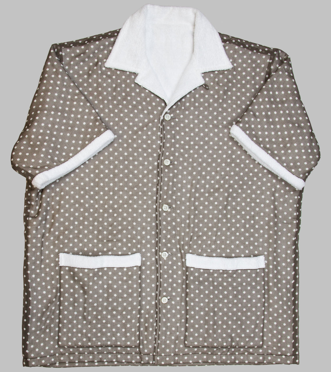 Bryceland's Towel Shirt Voile Spot Brown