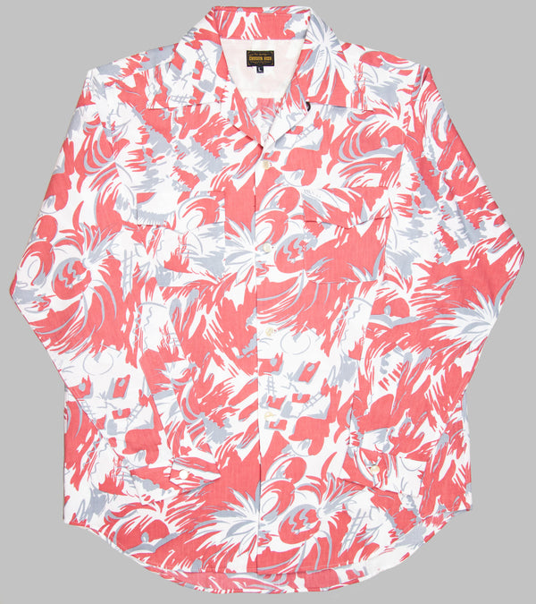 Groovin High Open Collar Shirt Tropical Salmon