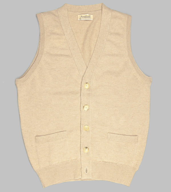 Bryceland's Camelhair Sleeveless Cardigan Blonde