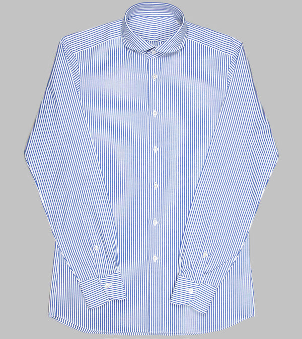 Bryceland's Winston Collar Striped Shirt Blue
