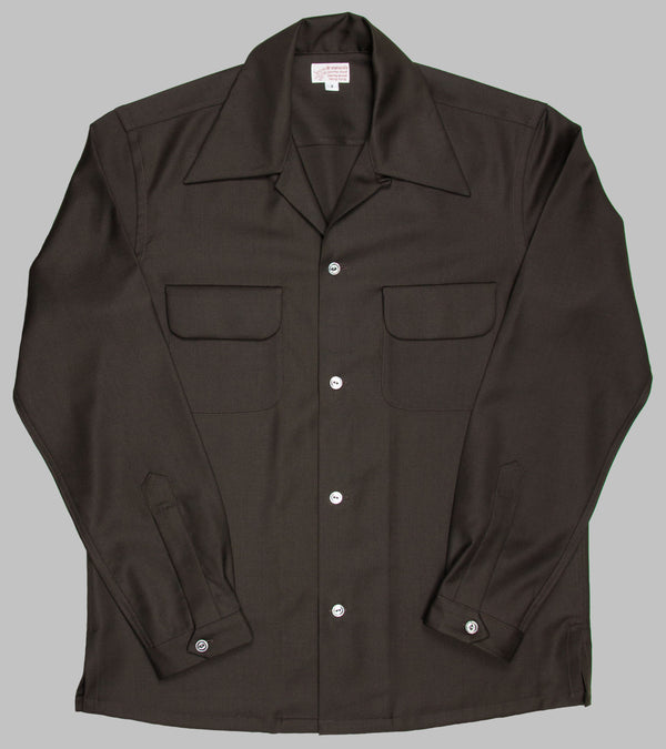 Bryceland's Wool Gabardine Shirt Brown