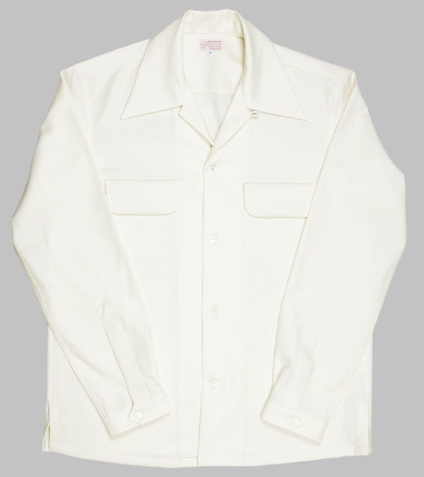 Bryceland's Wool Gabardine Shirt Cream