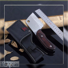 Load image into Gallery viewer, Sanjia K-87 outdoor wood handle fixed Mini knife with Nylon Sheath