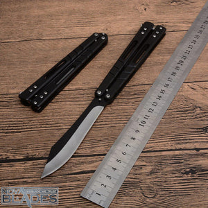GD523 Butterfly Knife 440 Blade Steel Handle Pocket Swing Knife