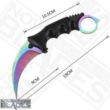 Load image into Gallery viewer, Gradient Color  Karambit Utility Knife with Sheath