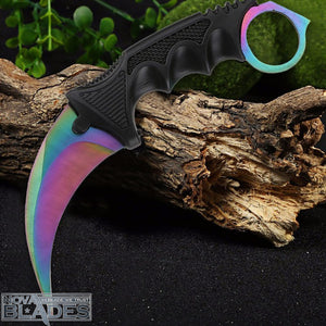 Gradient Color  Karambit Utility Knife with Sheath